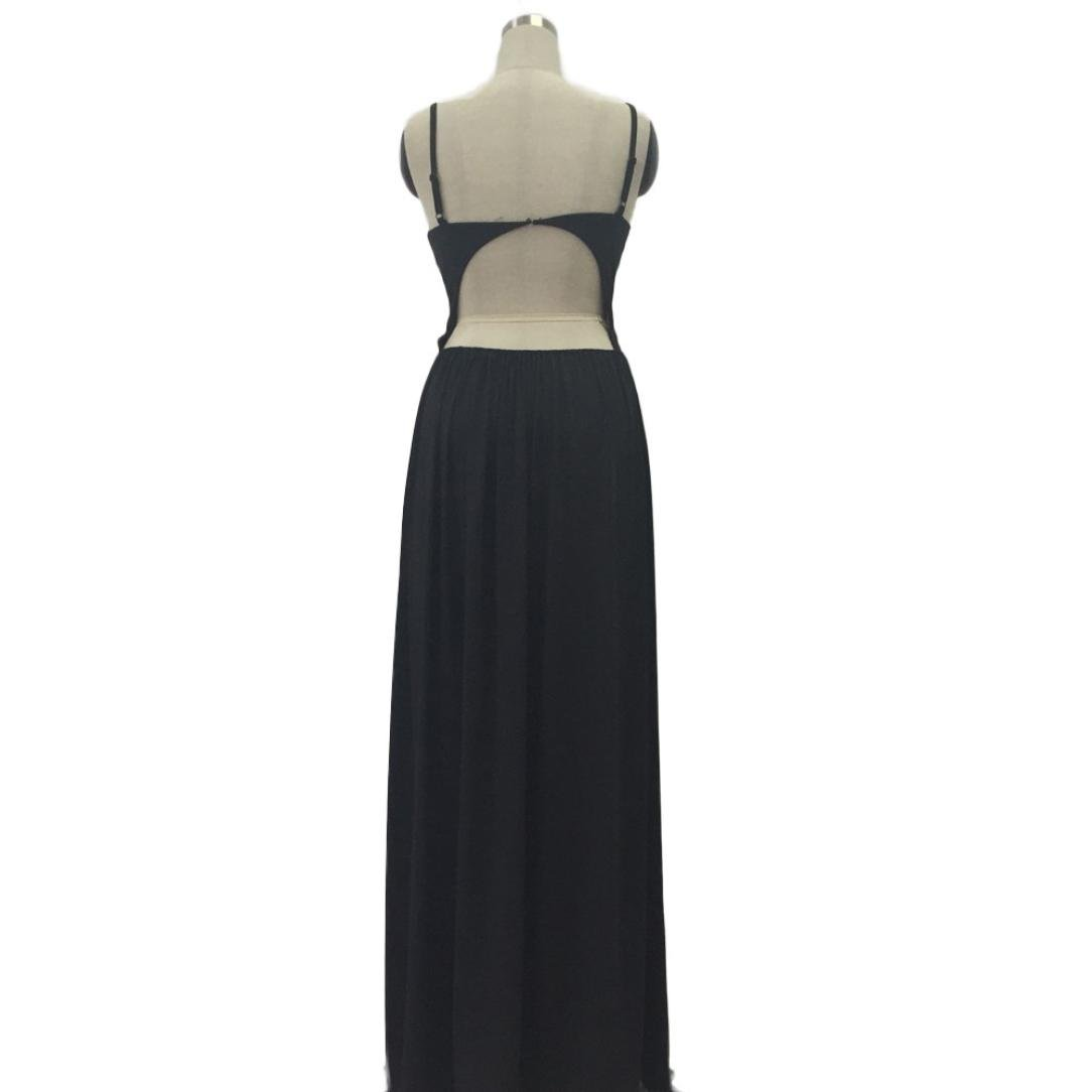 Usstore Women Camisole Long Dress Cotton Sleeveless Dresses (XL, Black) by Usstore (Image #5)