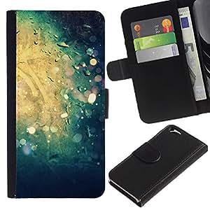 Billetera de Cuero Caso Titular de la tarjeta Carcasa Funda para Apple Iphone 6 4.7 / Water Reflection Sun Summer Surf / STRONG