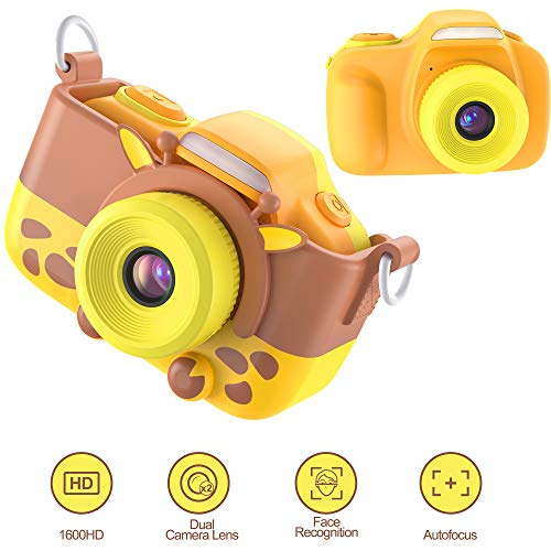 """TURN RAISE Kids Camera Gifts for 3-10 Year Child,16.0MP HD 2.0"""" Screen 1080P Video Resolution Anti-Drop Mini Selfie Child Camcorderr for Boys & Girls Camera Toy with Soft Silicone Cover from TURN RAISE"""