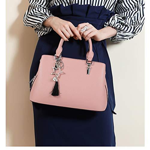 Mingda Material Pink black Pu Crossbody Women's Leisure Tote Shoulder work ZXqrUwZ