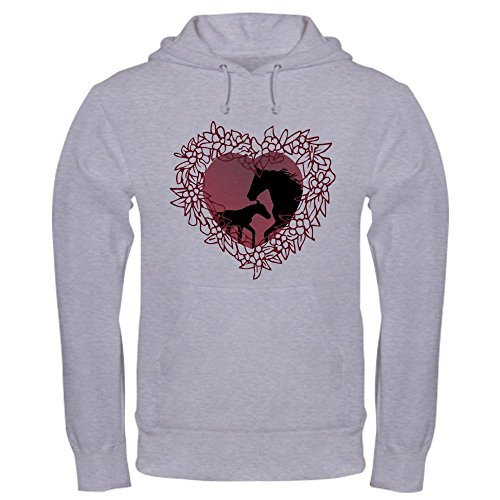 CafePress MareNFoal Heart Hooded Sweatshirt - Pullover Hoodie, Classic & Comfortable Hooded Sweatshirt