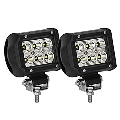 Led Light Pods,Eyourlife 18w Led Work Light Cree Led 4x4 Off Road Light Bar Pair 4 inch SUV Headlight Spotlight Pods Driving by Eyourlife