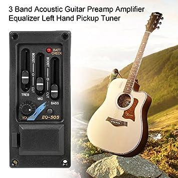 Amplificador de 3 bandas para guitarra acústica, ecualizador izquierdo: Amazon.es: Bricolaje y herramientas