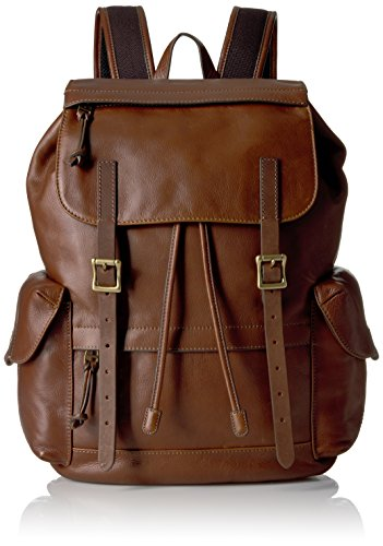 Fossil Defender Leather Rucksack Backpack, Brown