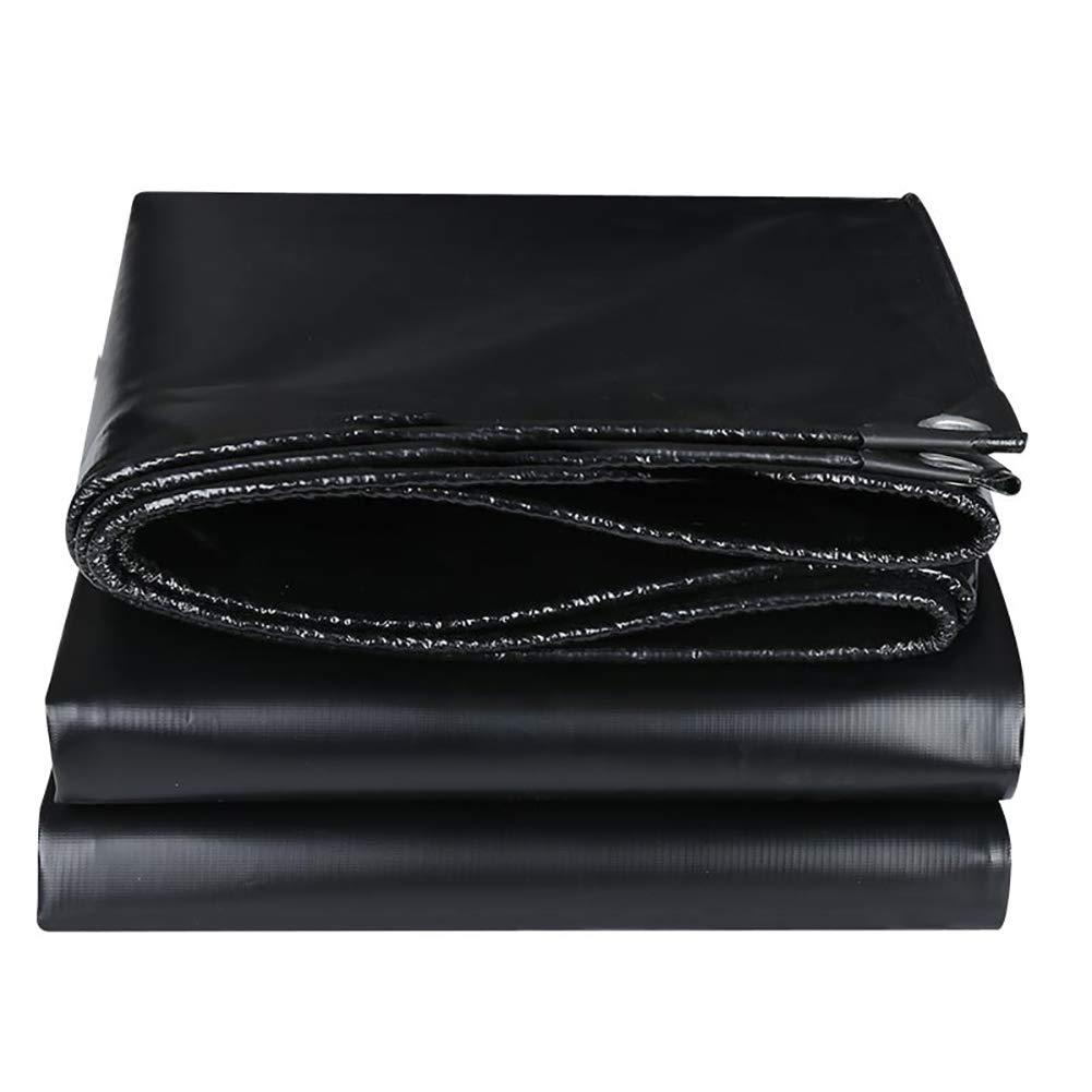 D_HOME Schwarze PVC Wasserdichte Plane Leinwand Sonnenschutz kratzen Bodenhüllen, 520g / m² (größe : 2x4M)