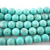 Charm Buddy 50 x Round Turquoise Beads8mm