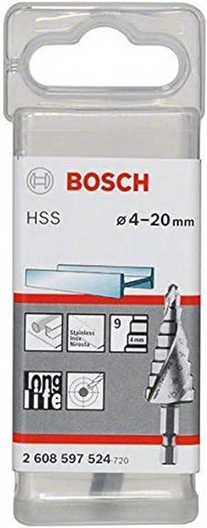 Bosch 2608588069 Assortiment de fraises /étag/ées queue 3 pans Longueur 66,5//70,5//93,5 mm Ex/écution HSS-AlTIN