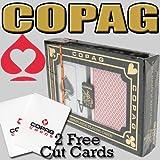 COPAG Dual Index Poker Peek 100% Plastic Cards - Free Copag Cut Cards