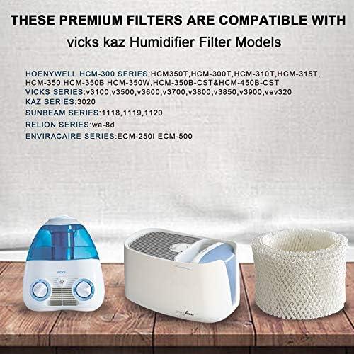 SKROS Compatible Extended Life Humidifier Wick Filter Replacement for Vicks & Kaz WF2 3020, V3100, V3500, V3500N, V3600, V3800, V3850 and V3900(3