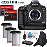 Canon EOS 1Ds Mark II DSLR Camera International Version (No Warranty) + Two 32GB Extreme CF Compact Flash Memory Cards + Two Extra Batteries Bundle
