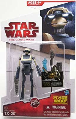 "Star Wars The Clone Wars Animated 3 3/4"" Commander TX-20 Action Figure"