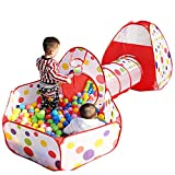 Kids Playhouse Tent With Tunnel Set,PortableFun Outdoor Indoor Bounce Playhouse Ball Tent Toys - Perfect Christmas Gift For Toddlers Child(Ball Pits Not Included)
