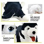 Houwsbaby Large Lifelike Husky Stuffed Animal Soft Dog Plush Toy Cuddly Alaskan Malamute Puppy Gift for Kids Boys Girls Pets Home Decoration Holiday Birthday, 27.5'' (Husky) 11
