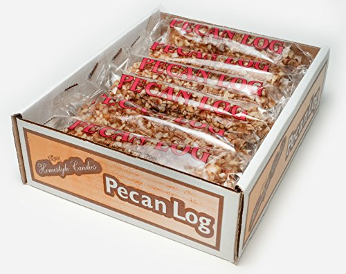 Pecan Logs Rolls - Crown Candy (12 Individually Wrapped 2.5 oz Pecan Logs Per Box)