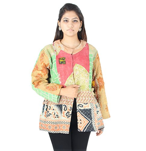 Price comparison product image JTH This is an Amazing Quilted Kimono Kantha Jacket Handmade in India (JTH-JBJ-93) 736067 cm (XL)