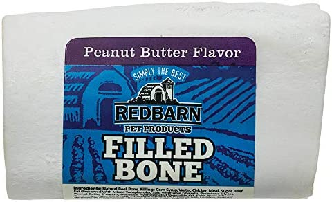 Redbarn Small Filled Bone-Peanut Butter 5-Count