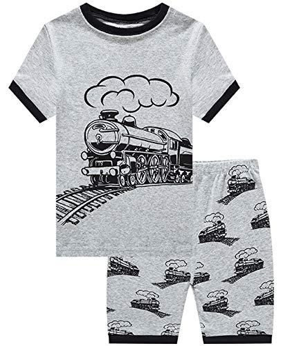 Boys Toddler Pajamas (Boys Pajamas Train Short Sets Toddler Pjs Clothes Kids Sleepwear Summer Shirts Size)