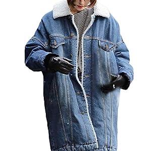LISTHA Oversize Denim Jacket Women Long Jean Coat Winter Outwear Button Overcoat