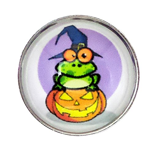 Unicef Halloween Costume (Chunk Snap Charm Halloween Frog Pumpkin Witch 20mm, 3/4