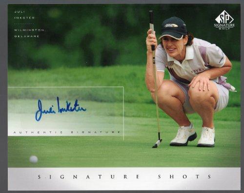 2004 Upper Deck SP Golf Signature Signed Autograph LPGA Julie Inkster 8x10 Trading Card - Julie Inkster Memorabilia