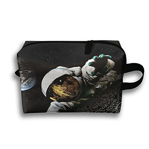 Astronaut Climbing Cosmetic Bags Makeup Organizer Bag Pouch Zipper Purse Handbag Clutch Bag