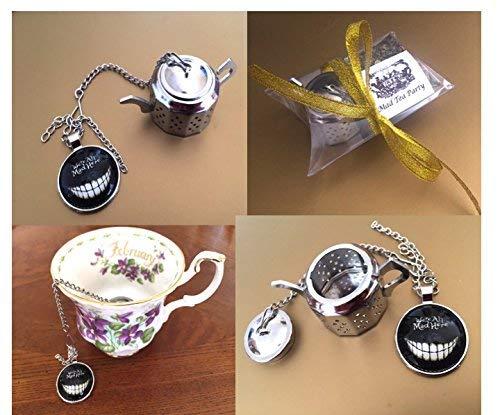 Alice in Wonderland Keyring Mad Hatter tea party teapot /& teacup charms