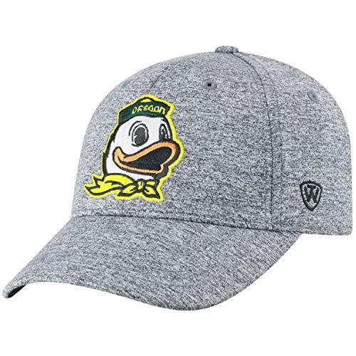 NCAA Oregon Ducks Men's Adjustable Steam Charcoal Icon Hat, Grey