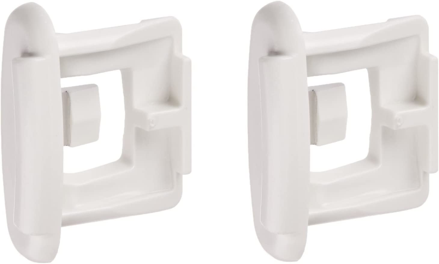 NEBOO For GE PACK OF 2 WD12X10304 WD12X344 Rack Slide End Cap White AP4484666 PS2370502