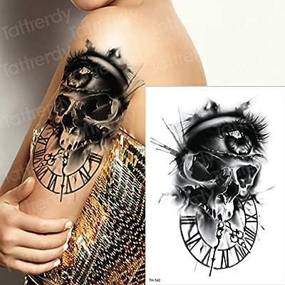 Handaxian 3 Piezas Tatuaje Chica niño Brazo Zombie Tatuaje: Amazon ...