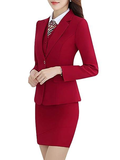 Amazon.com: Trajes de mujer de tres piezas de oficina para ...