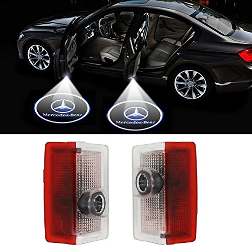 (Klinee Easy Installation Car Door LED Logo Projector Ghost Shadow Lights Symbol Emblem Courtesy Step Lights)