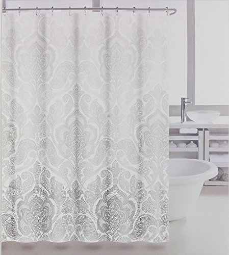 white and gray shower curtain - 4