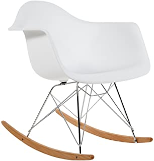 AHOC Charles Eames RAR Plastic Rocking Chair   White
