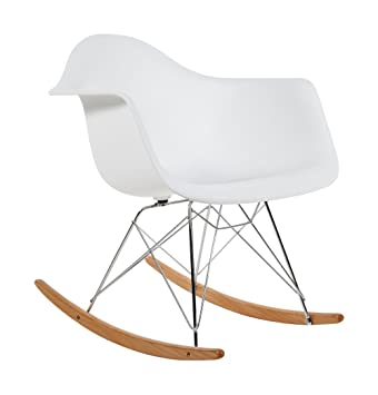 charles eames rar rocking chair plastique - blanc: amazon.fr ... - Chaise A Bascule Eames