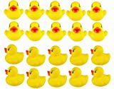 Viskey 20pcs Yellow Ducks Baby Bath Tub Bathing Rubber Squeaky Toys
