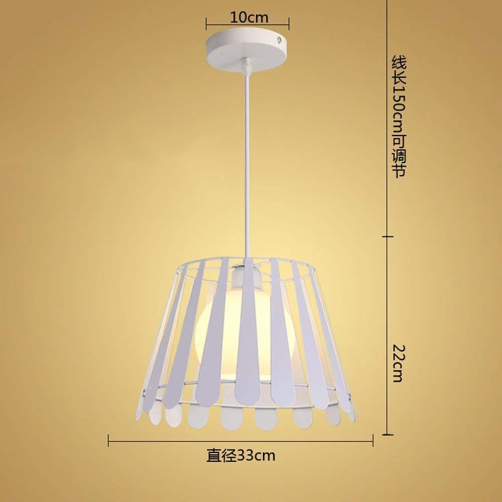 FuweiEncore Pendelleuchte Restaurant - Kronleuchter - Creative - Industrial Air - Bar - Wohnzimmer - Schlafzimmer - Lampen - Leuchten, Weiß - 9W 33  22Cm LED