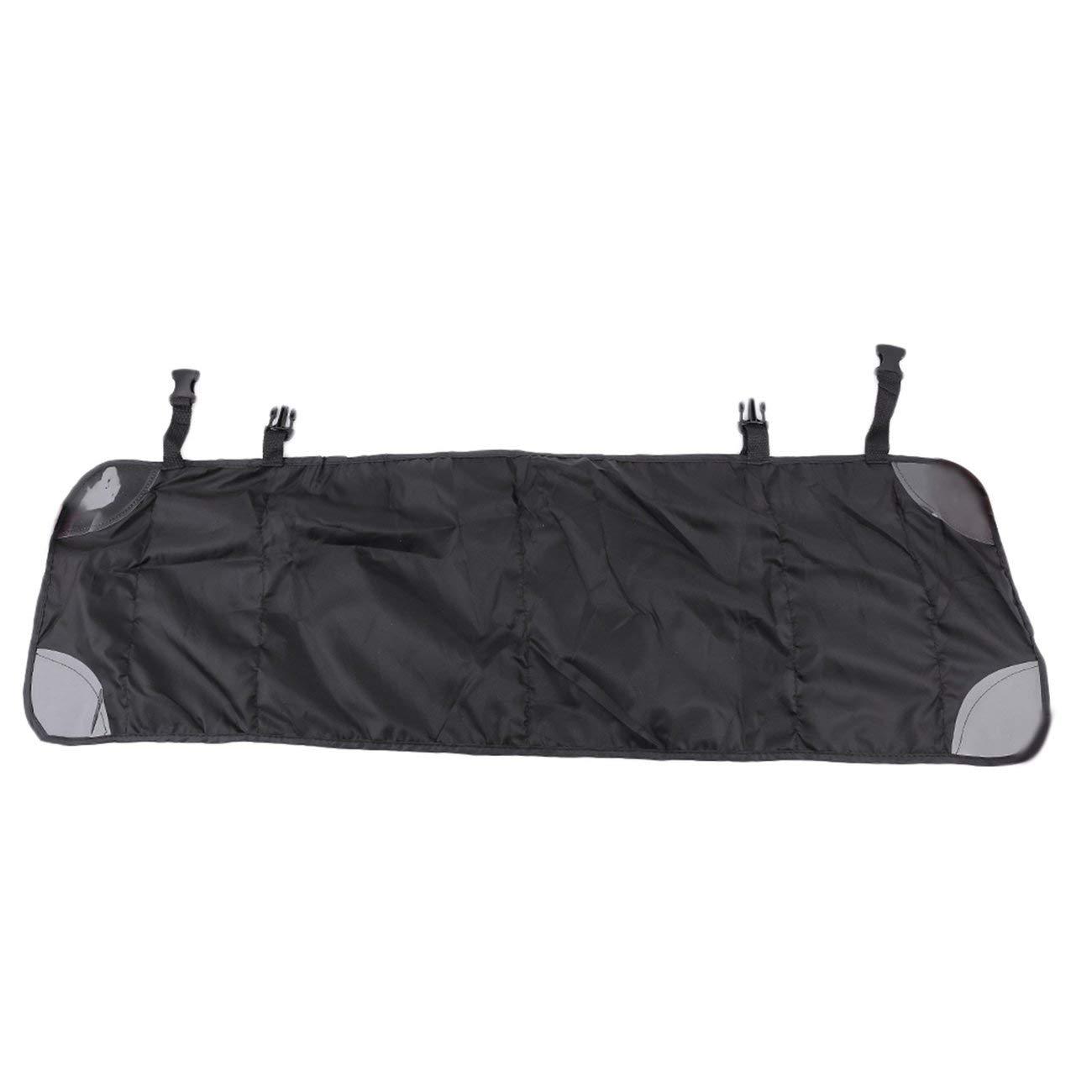 Longue Style Auto Car Seat Sac à Dos Sac Voyage Hanging Stockage Organisateur Tissu Oxford Trash Porte-Net (Noir)
