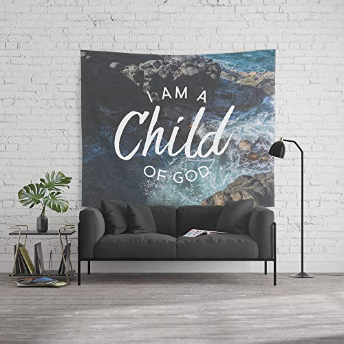 Society6 Wall Tapestry, Size Large: 88'' x 104'', Christian Quote - I am a Child of God by thebethelstore by Society6