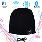 Bluetooth Cap Beanie for Men and Women - Wireless Earphone Beanie Hat with Built In Microphone & Stereo Speaker, Perfect Christmas Gift by Ideas in Life