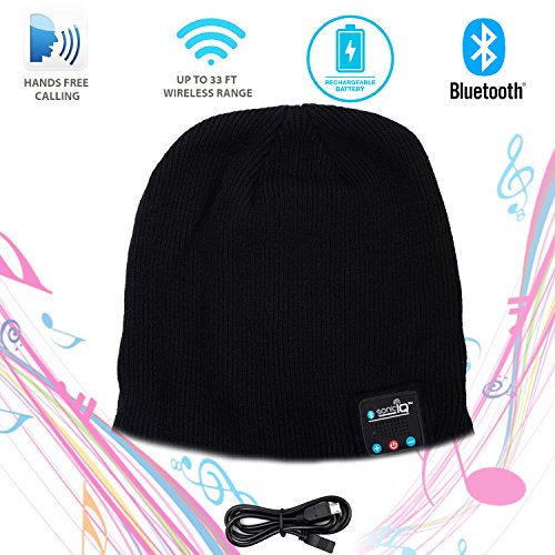 Bluetooth Cap Beanie for Men and Women - Wireless Earphone Beanie with Built In Microphone & Stereo Speaker, Perfect Christmas Gift by Ideas in Life Best Christmas Gift Ideas