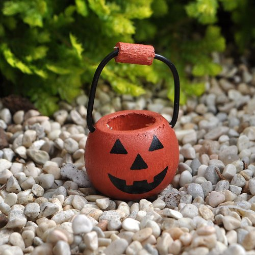 Miniature Garden Pumpkin Basket Handle