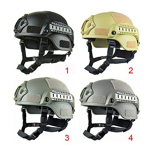 Gezichta Casque tactique de protection style MICH 2001 avec support NVG et rails latéraux pour paintball, airsoft ou CS 2