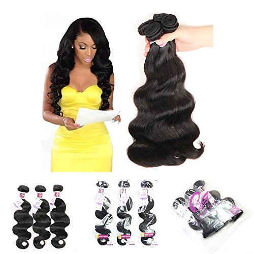 Colorful Queen Brazilian Virgin Hair Body Wave Remy Human Hair 3 Bundles Weaves 100% Unprocessed Hair Extensions Natural Color 12 14 16Inch