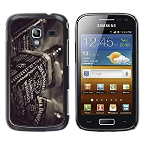 Stuss Case / Funda Carcasa protectora - Whiskey Bottle Bar Drinking Party Alcohol Art - Samsung Galaxy Ace 2 I8160 Ace II X S7560M