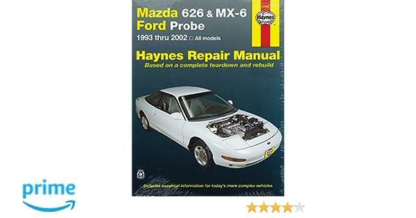 mazda 626 mx 6 ford probe 1993 2002 repair manual haynes repair rh amazon com