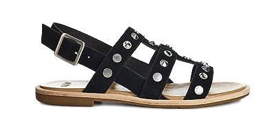 UGG Women's Zariah Studded Bling Sandal Black Size 5 ...