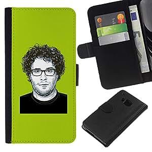 All Phone Most Case / Oferta Especial Cáscara Funda de cuero Monedero Cubierta de proteccion Caso / Wallet Case for HTC One M9 // Comedy Actor Hollywood Famous