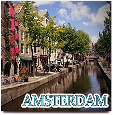 Amsterdam cuadrado imán para nevera Souvenir de viaje Países bajos ...