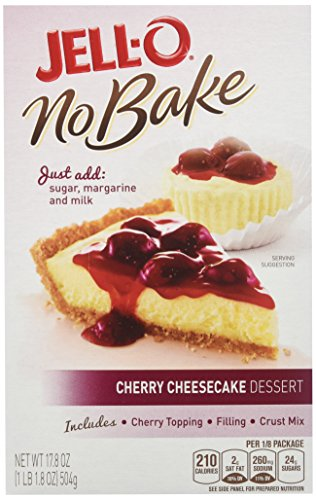 Jell-O No Bake Cheesecake Dessert, Cherry, 17.8 Ounce (Pack of 6) ()