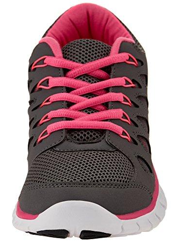 oodji Ultra Mujer Zapatos Deportivos con Acabado en Contraste Gris (254DB)